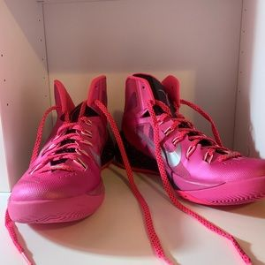 Pink Breast Cancer Awareness Nike Basketball Shoes